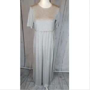 Long heather gray maxi dress NWT spring summer